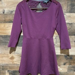Lulu's Medium Purple Dress Long Sleeve